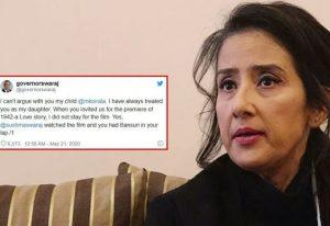 Sushma Swaraj's husband's reply to Manisha Koirala about Nepal and Lipulek